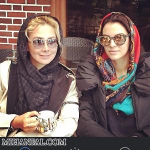 نوشیدن چای آنا نعمتی و دوستش + عکس