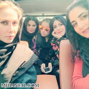عکس آنا نعمتی و دوستانش در آخر هفته !