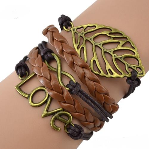 جدیدترین مدل دستبند چرم فشن دخترانه