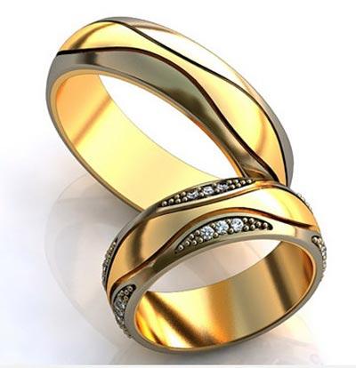 جذاب ترین ست حلقه زرد عروس و داماد