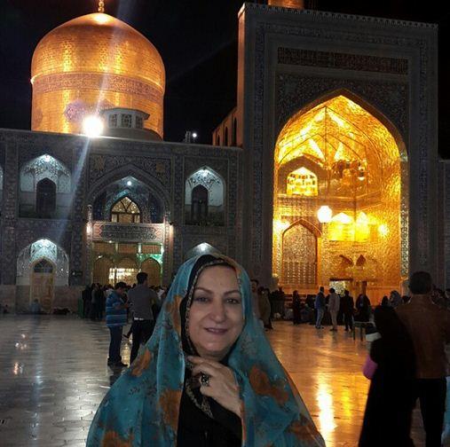 مریم امیر جلالی در حرم امام رضا (ع) / عکس