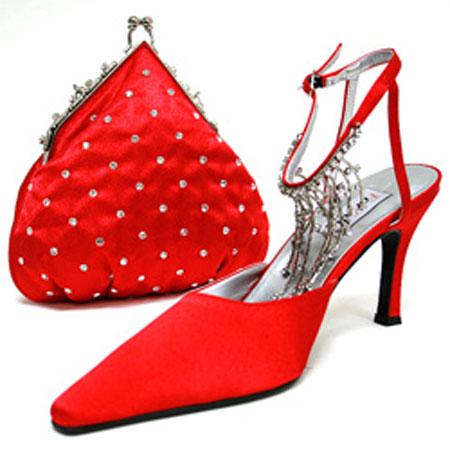 ست جذاب کیف و کفش قرمز و صورتی