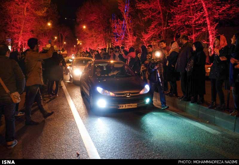 شادی مردم در خیابان ها پس از اعلام توافق هسته ای + تصاویر