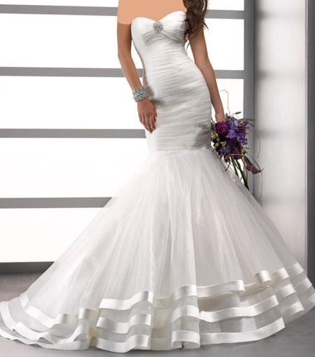 مدل زیبا از لباس عروس برند معروف Midgley