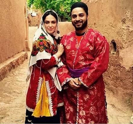 بابک جهانبخش و همسرش در لباس محلی / عکس