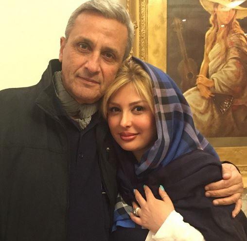نیوشا ضیغمی در آغوش پدرش / عکس