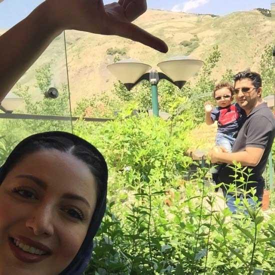 تفریح شیلا خداداد با خانواده در فشم + عکس