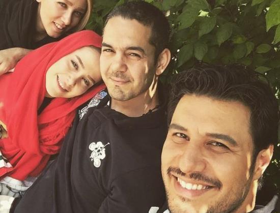 الناز حبیبی در آغوش برادرش + عکس