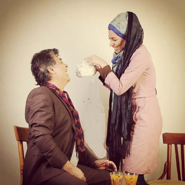 رضا رویگری در کنار همسرش / عکس
