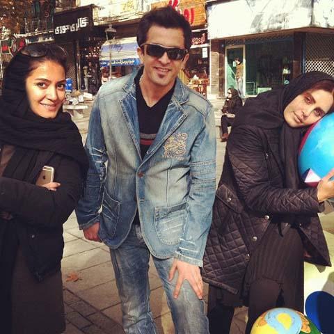 الناز شاکردوست در کنار مجید یاسر / عکس