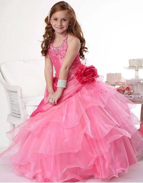 مدل لباس عروس رنگی بچگانه