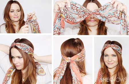 جالب ترین مدل از بستن شال و روسری