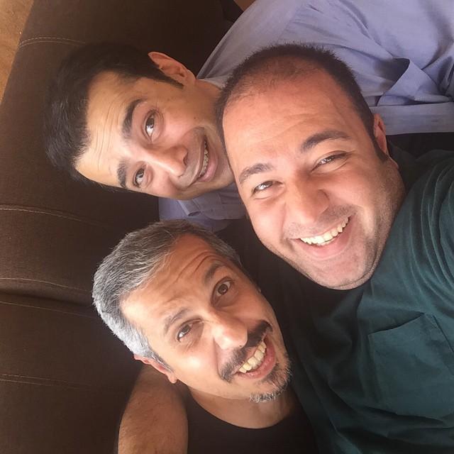 سلفی بازیگران در حاشیه + عکس
