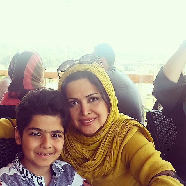 کمند امیر سلیمانی و پسرش + عکس