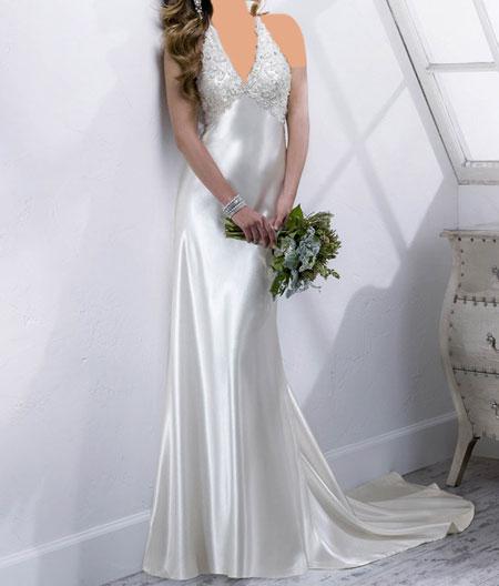 مدل لباس عروس ساتن برند Midgley