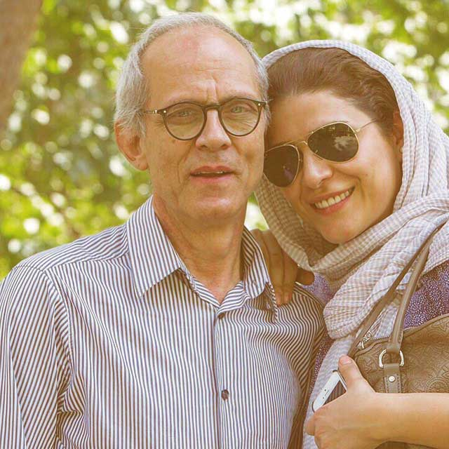 سحر دولتشاهی و پدرش / عکس