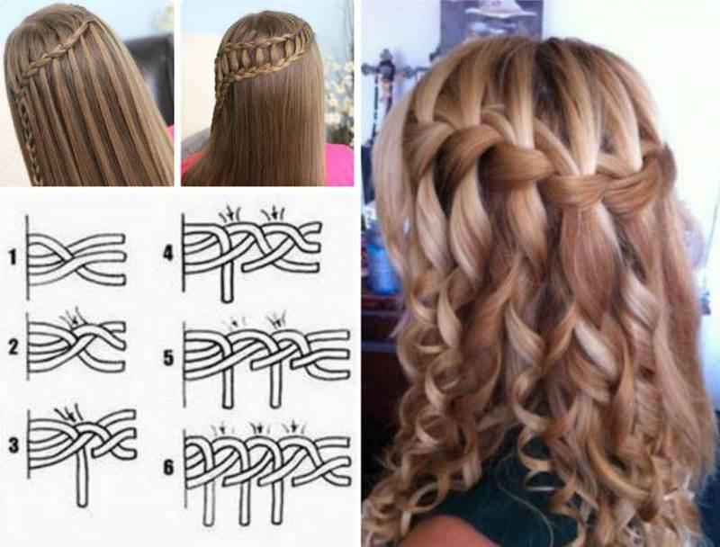 آموزش تصویری مدل موی آبشاری