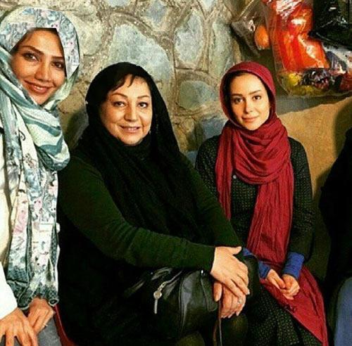 الناز حبیبی در کنار مریم سعادت / عکس