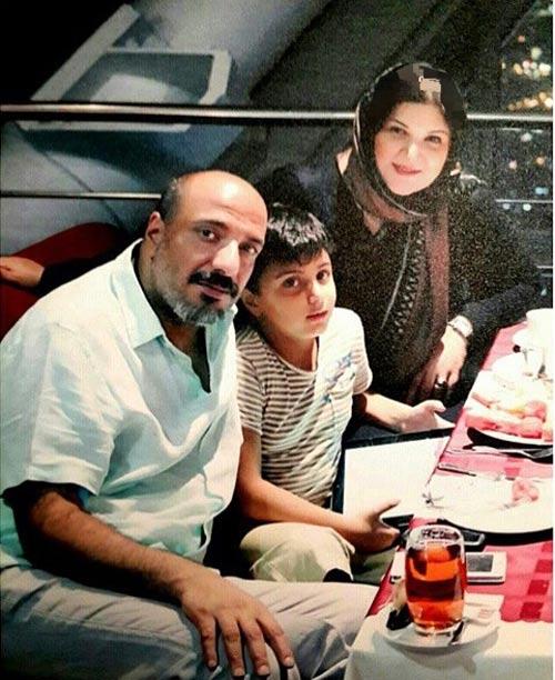 امیر جعفری در کنار همسر و پسرش / عکس
