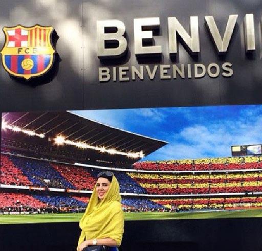 لیلا بلوکات در حمایت از بارسلونا! + عکس