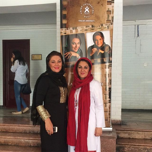 لاله اسکندری در دانشگاه خزر در باکو + عکس