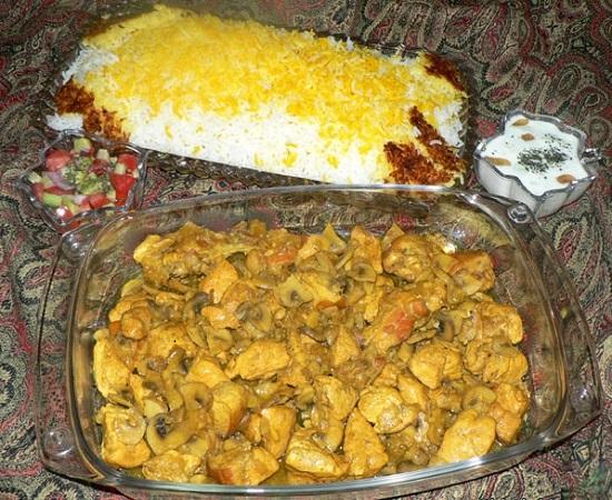 روش تهیه خوراک رژیمی مرغ و قارچ