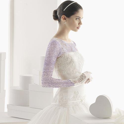 مدل لباس عروس با پارچه بسیار لطیف