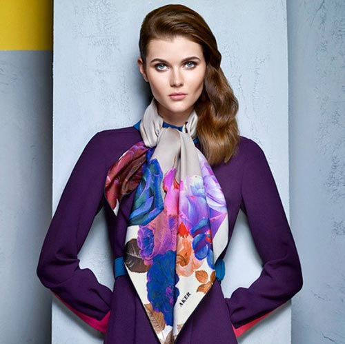 مدل روسری و شال مجلسی Aker