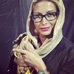 عکسی جدید از فریبا نادری با عینک