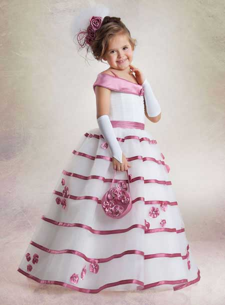 مدل لباس عروس گلدار ۲۰۱۵ بچگانه