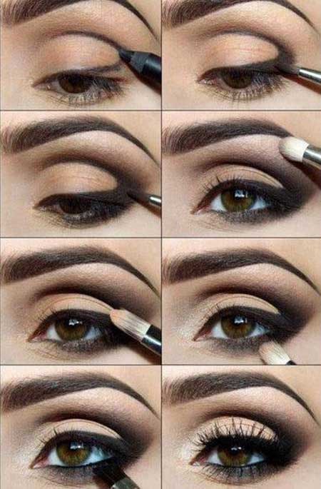 آموزش تصویری آرایش چشم های کشیده