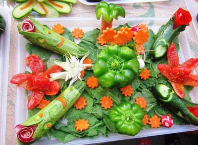 سبزی آرایی های شیک ویژه سفره ماه رمضان