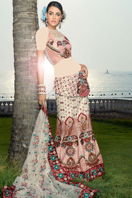 مدل لباس هندی مجلسی ۲۰۱۵ با طرح ویژه