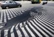 عکس / آب شدن آسفالت خیابان بخاطر گرمای بیش از حد هوا !