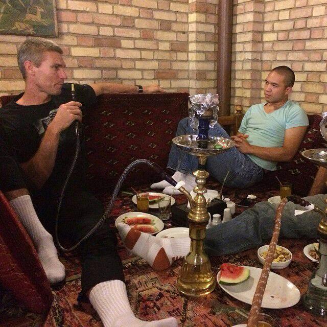 تهرانگردی تیم ملی آمریکا با طعم قلیان / عکس