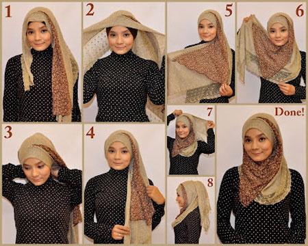آموزش تصویری بستن شال و روسری ۲۰۱۵