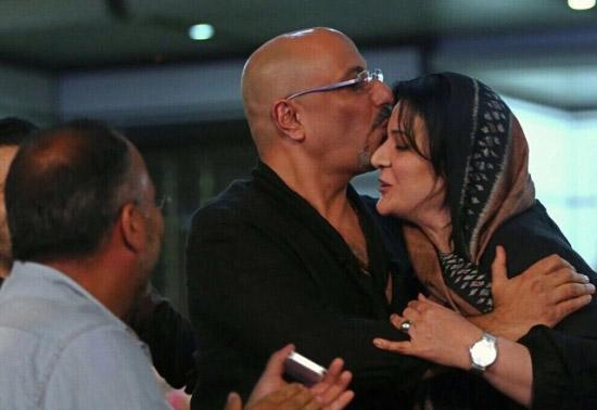 امیر جعفری همسرش را بوسید! + عکس