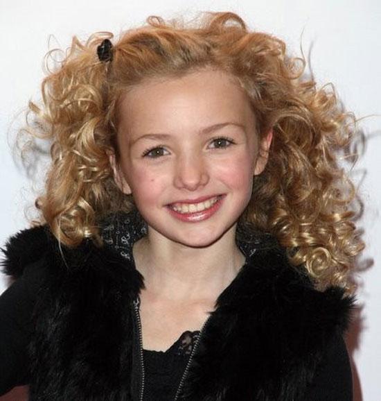 مدل مو بچگانه به سبک فر کردن