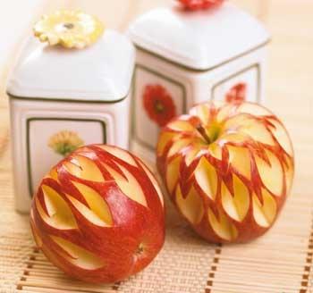 مدل های شیک از تزیین سیب قرمز
