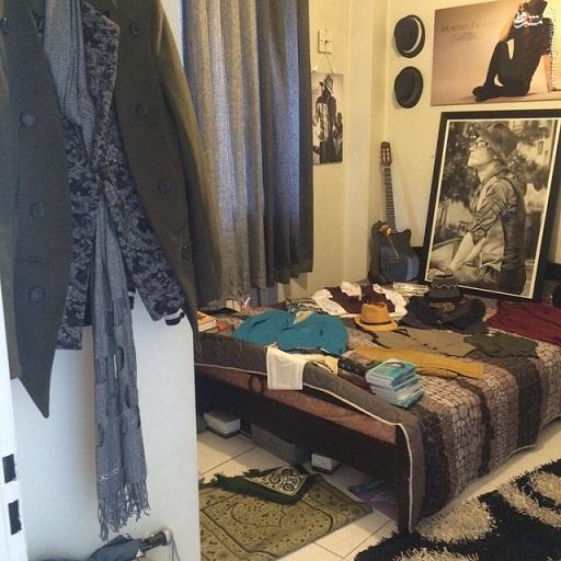 اتاق مرتضی پاشایی و یادگاری هایش / عکس