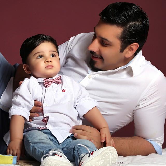 عکس آتلیه ای احسان خواجه امیری و پسرش ارشان