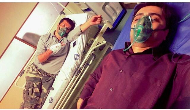عکس جالب امین زندگانی و سیاوش خیرابی روی تخت بیمارستان