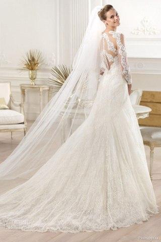 مدل لباس عروس سبک پر و دنباله دار
