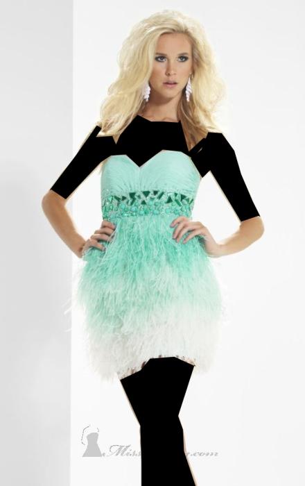 مدل لباس شب شیک بلند برند ریوا