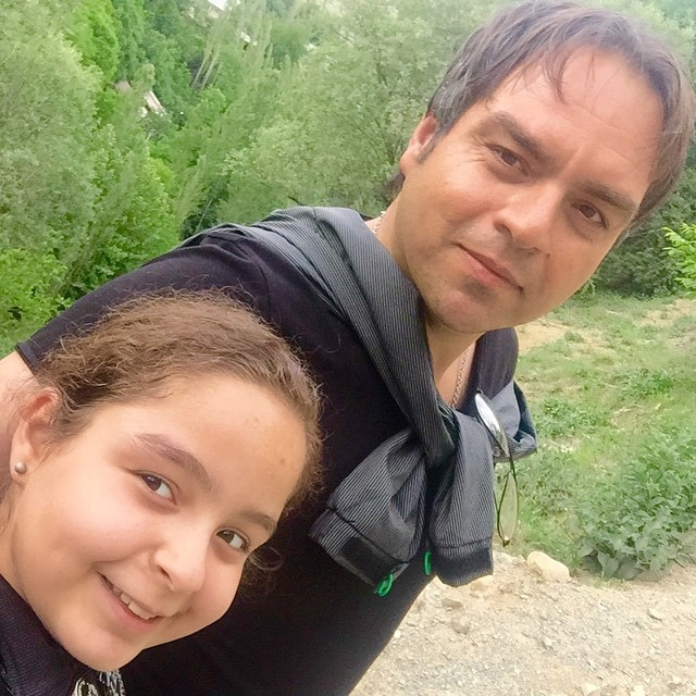 عکس سلفی شهرام قائدی و دخترش