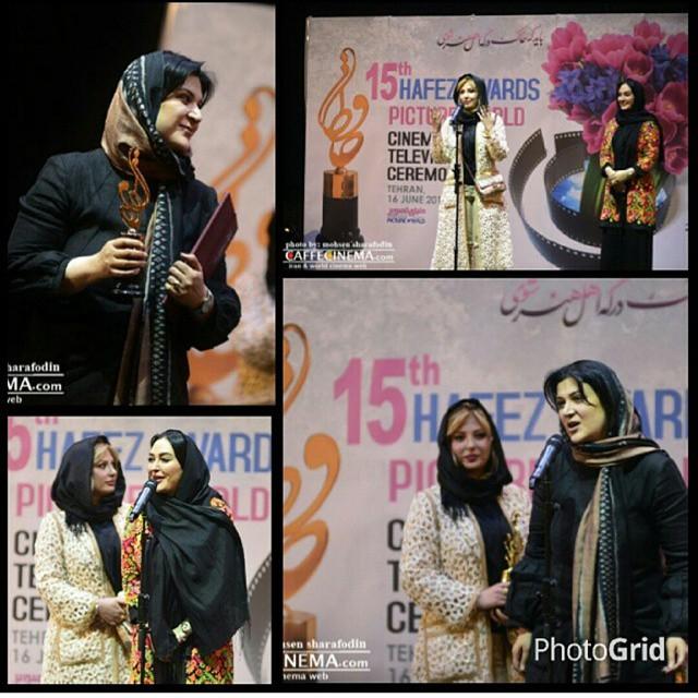 عکس / نیوشا ضیغمی با الهام حمیدی و ریما رامین فر در جشن حافظ