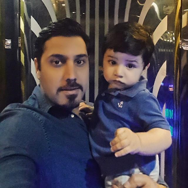 احسان خواجه امیری و پسرش ارشان / عکس