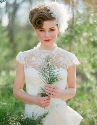 مدل مو ساده و شیک عروس
