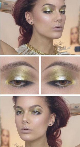 آموزش تصویری آرایش چشم دخترانه با رنگهای شاد