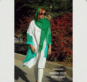 مدل مانتو نخی مجلسی همراه با رنگهای شاد